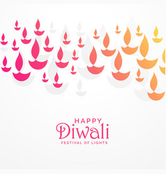 Beautiful vibrant diwali greeting card design vector