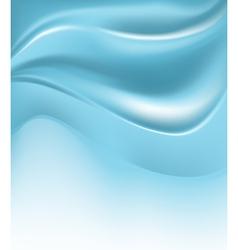 Blue wave silk background vector
