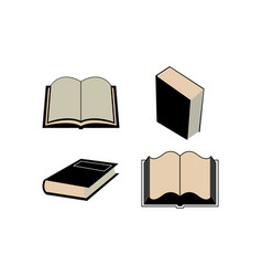 book icon design set bundle template isolated vector image