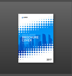 Brochure cover design template for technology vector