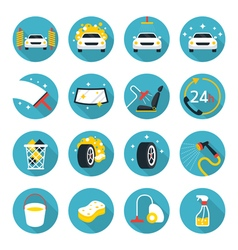 Car Wash Objects icons Set vector