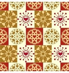 Christmas seamless pattern vintage snowflakes vector