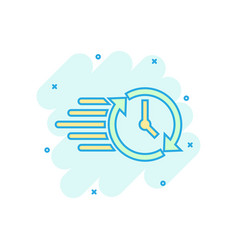 clock countdown icon in comic style time vector image