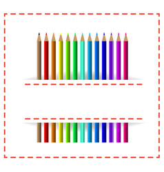 colorful pencils in white cloth pocket vector image