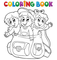 Coloring book kids theme 6 vector