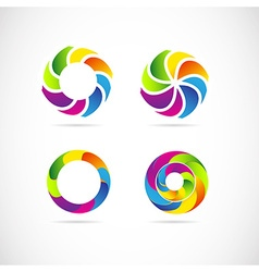 Corporate logo set vector image