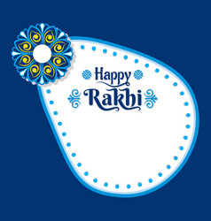 decorative happy rakhi festival greeting card vector image