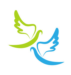 Dove of peace icon vector