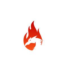 dragon fire logo icon design vector image
