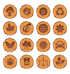 eco and environment icons set vector image