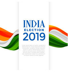election india concept poster vector image
