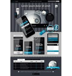 elements infographics vector image