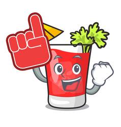 foam finger bloody mary mascot cartoon vector image