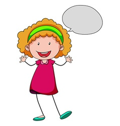 Girl speaking vector image