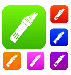 Glass cutter set color collection vector