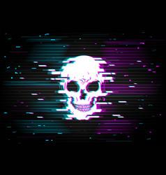 Hacker attack cybersecurity breach glitch vector