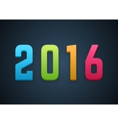 Happy New Year 2016 3d background vector image