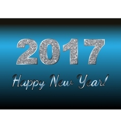 Happy New Year 2017 background Silver vector