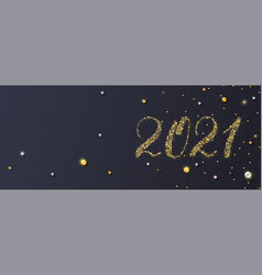 Happy new year 2021 handdrawed numbers vector