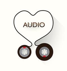 I Love Audio vector image