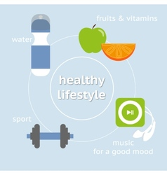 infographic healthy lifestyle vector image