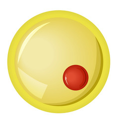 Large orange yellow and red bubble vector