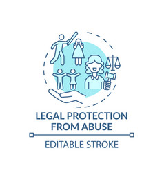 Legal protection from abuse concept icon vector
