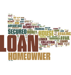 Loans for homeowner text background word cloud vector