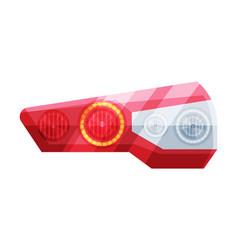 Modern automotive auto headlights flat style vector