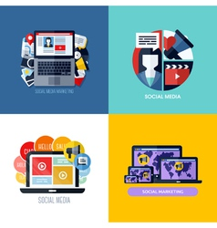 Modern flat concepts of social media marketing vector image