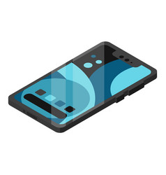 modern smart phone icon isometric style vector image