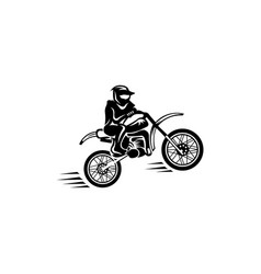 Motocross rider and motorcycle vector