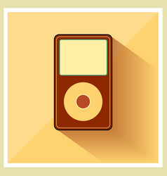 Music Media MP3 Player Retro Icon vector image