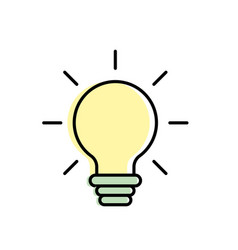Nice bulb idea to create and invent vector