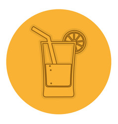 orange juice isolated icon vector image