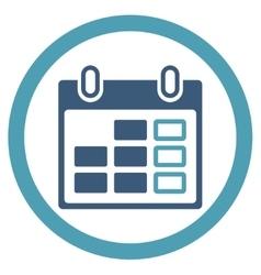 Organizer Week Icon vector