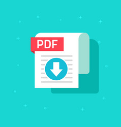 Pdf download icon symbol flat text vector