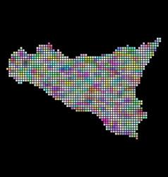 Pixel sicilia map vector