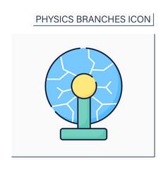 Plasma physics color icon vector