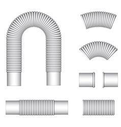Plumbing corrugated flexible tubes vector
