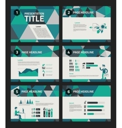 Presentation template with business infographics vector