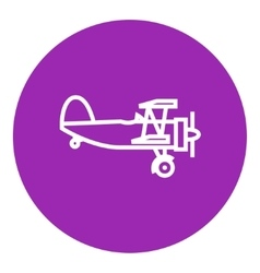 Propeller plane line icon vector