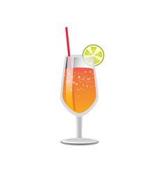 Refreshing summer lemonade drink stylish glassware vector