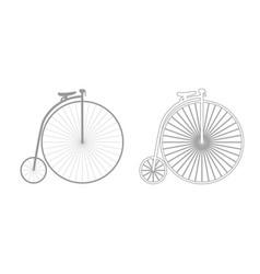 retro bicycle icon grey set vector image