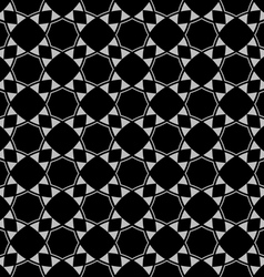 Seamless black and white ethnic pattern vector
