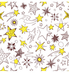 seamless pattern with of hand drawn vector image