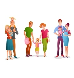 Set families with children vector image