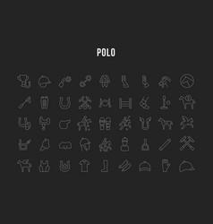 Set line icons polo vector