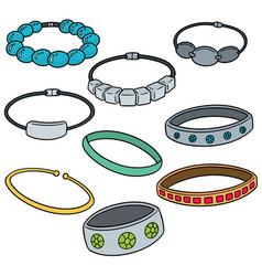 set of bracelet vector image