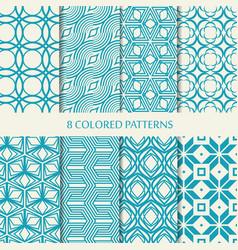 Set of eight seamless chevron patterns vector